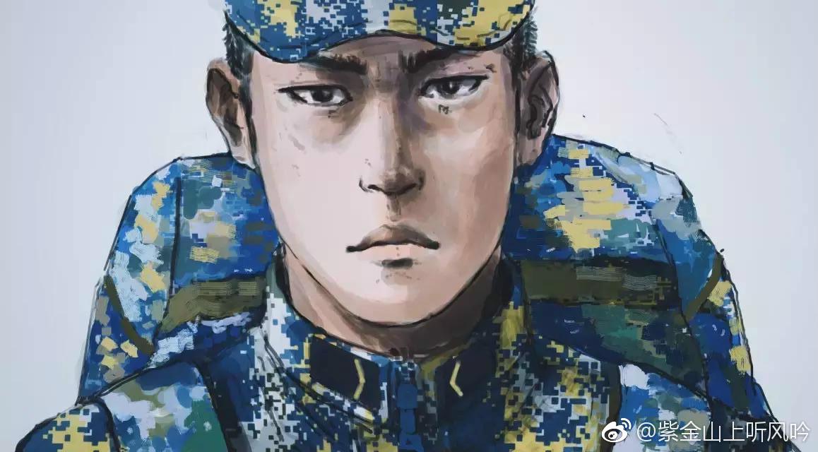 用ps绘制成手绘动漫风格的中国海军战士生活片断