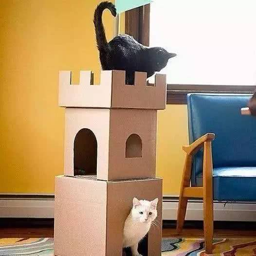 废旧纸盒手工制作大全城堡