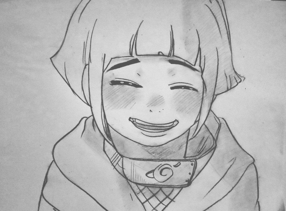 火影忍者:手绘素描春野樱,日向雏田,天天,山中井野微微一笑