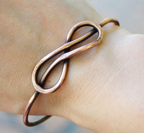 铜丝制作的手镯子!真的简约又时尚!