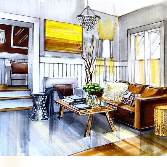 灵感|室内手绘图·客厅.