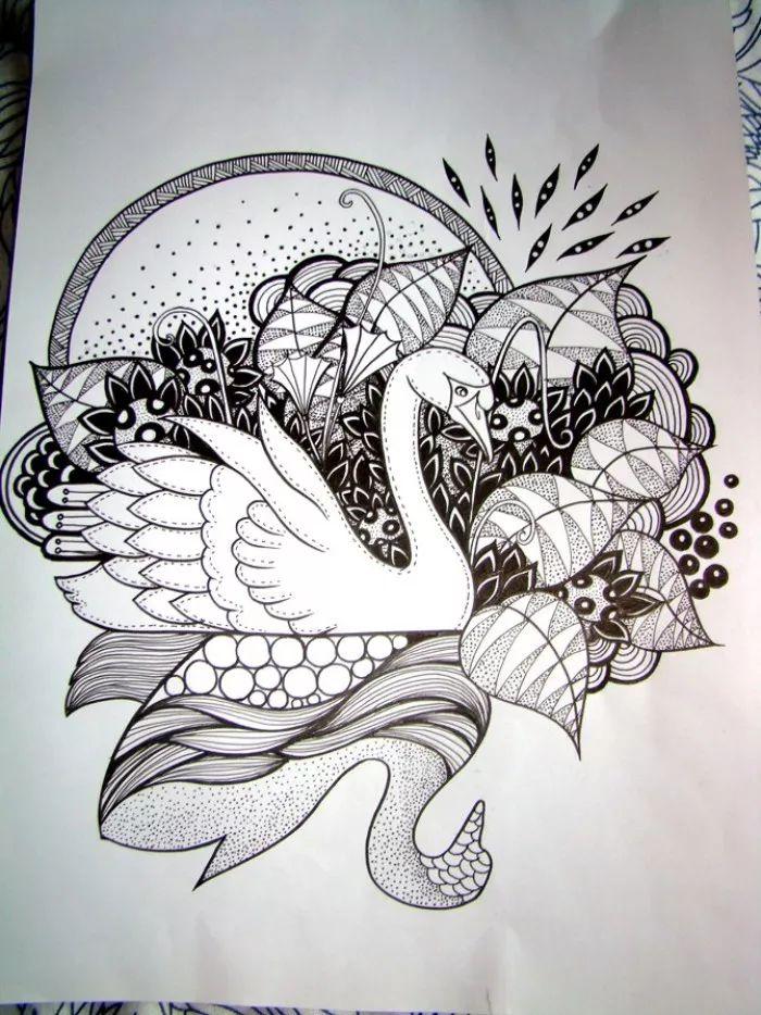 手绘-针管笔手绘小品,迷人的线条!