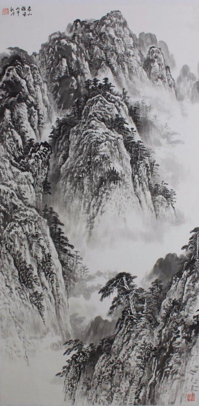 看画家笔下的泰山有多美!图片
