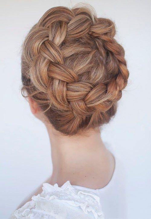 时髦又高级的皇冠辫子发型,非常漂亮!
