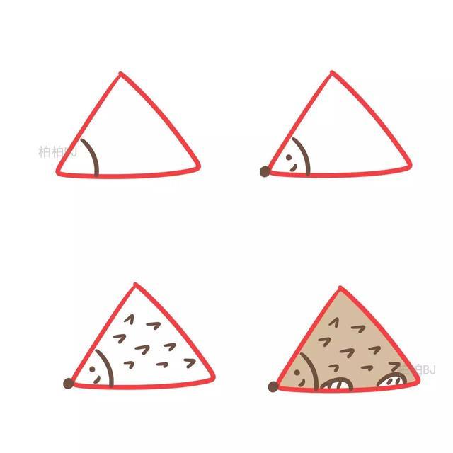 今天为大家带来的是图形创意简笔画 本次变形的主角是三角形 下面的图片