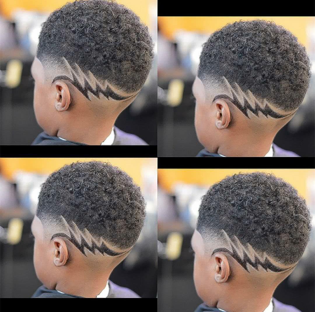 儿童雕刻发型图片