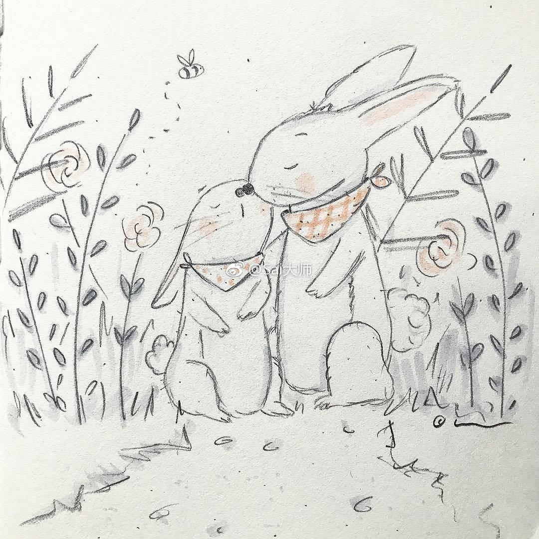 一组可爱的铅笔画,来练练手吧丨来自儿童插画师alexandra macvean