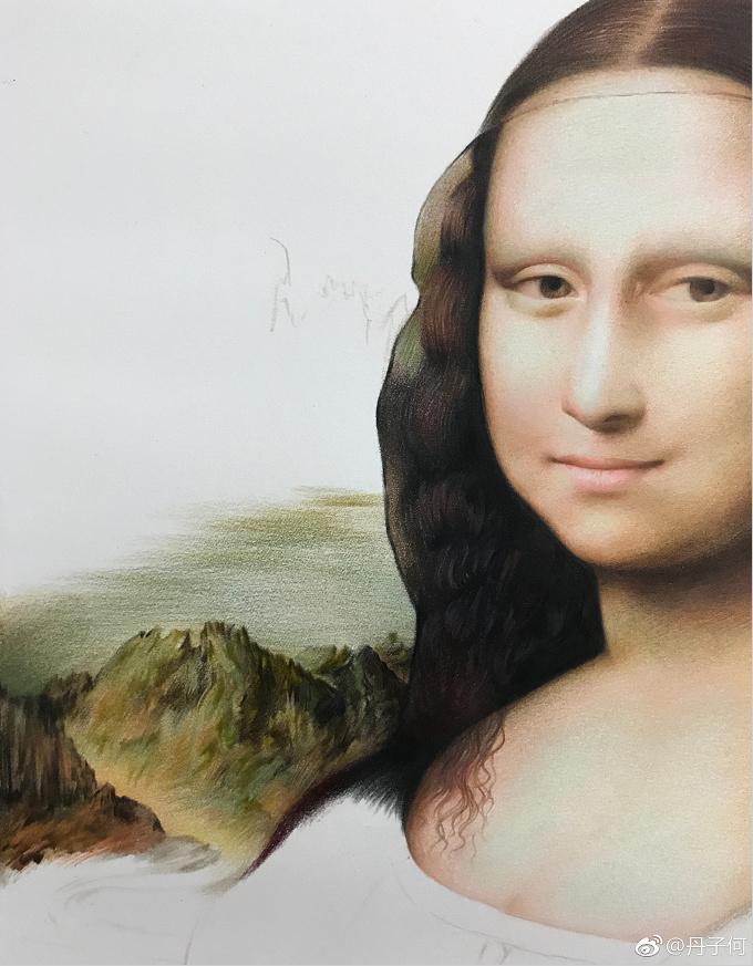 原创手绘作品《蒙娜丽莎》| 作者图片