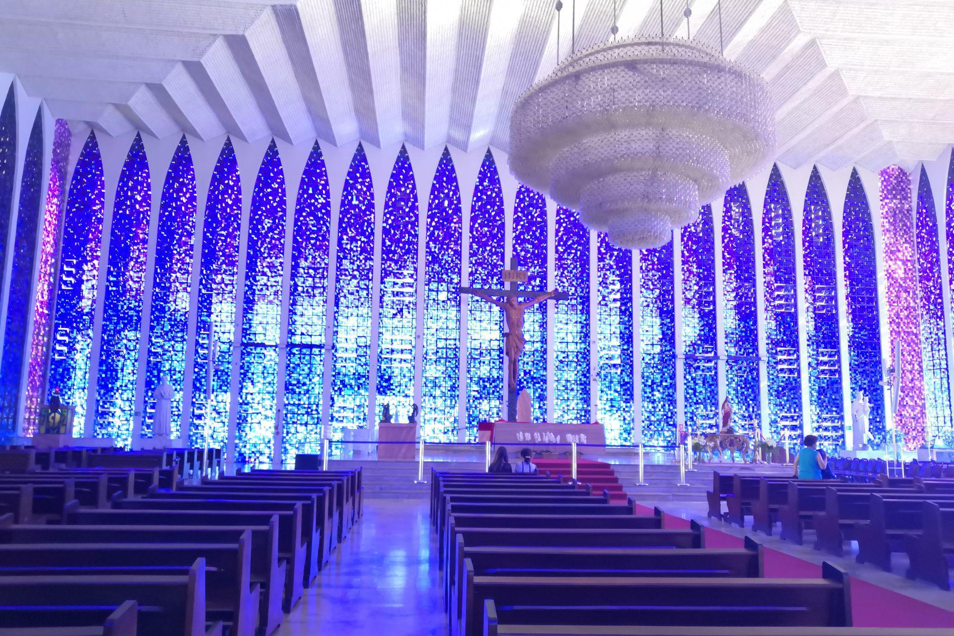 游览 南美 巴西 巴西利亚 蓝色教堂