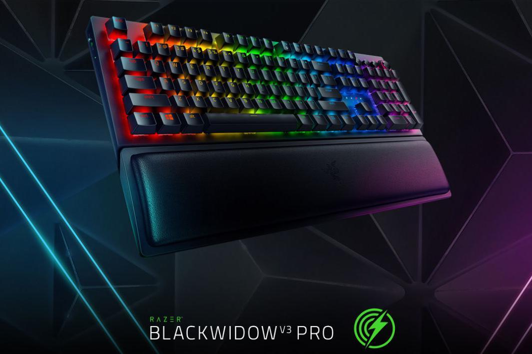 雷蛇推出「黑寡妇蜘蛛V3无线版」游戏机械键盘:双色注塑ABS键帽