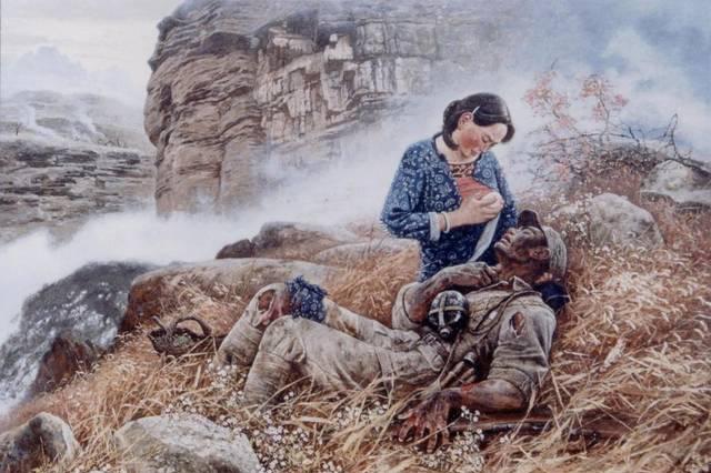 新四军的排长爱上了沂蒙山区的妇女主任,她却回信说抗日更重要