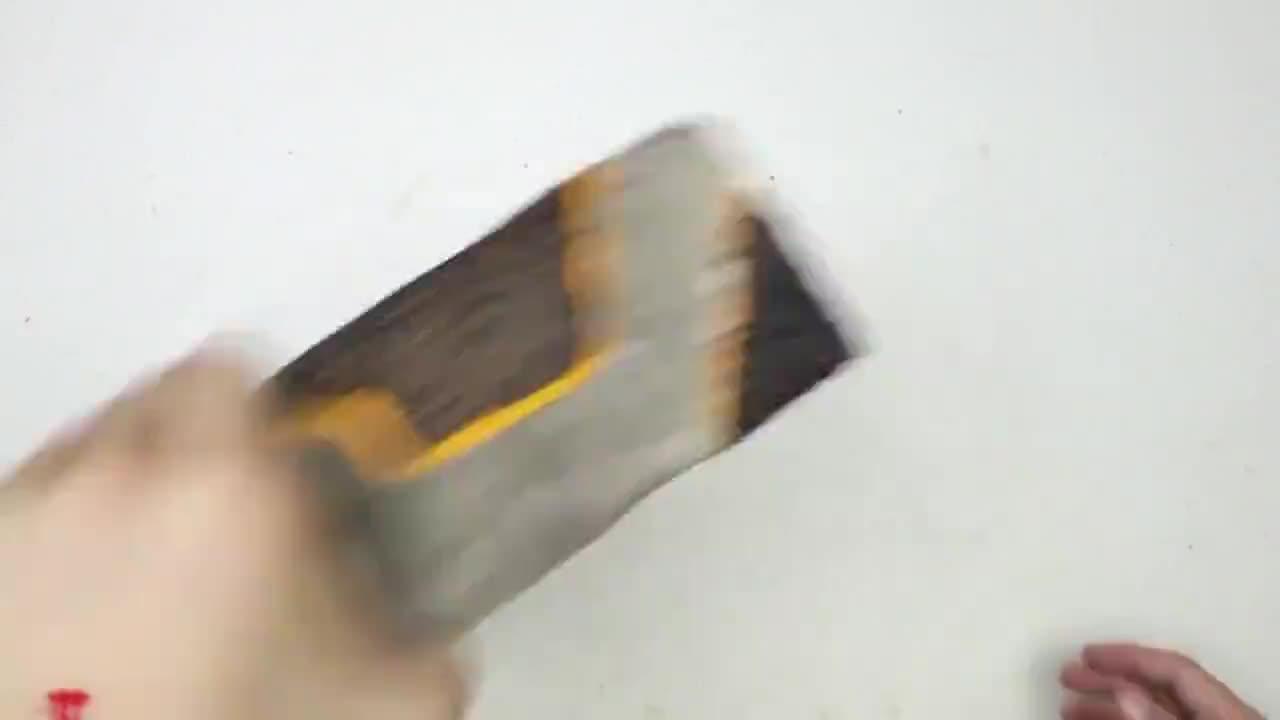 老外用3D打印笔修复一块砖头,真是会玩,佩服!