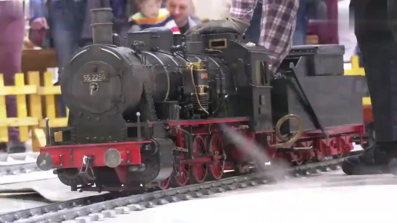 价值不菲的火车模型,一看就是有钱人玩具!
