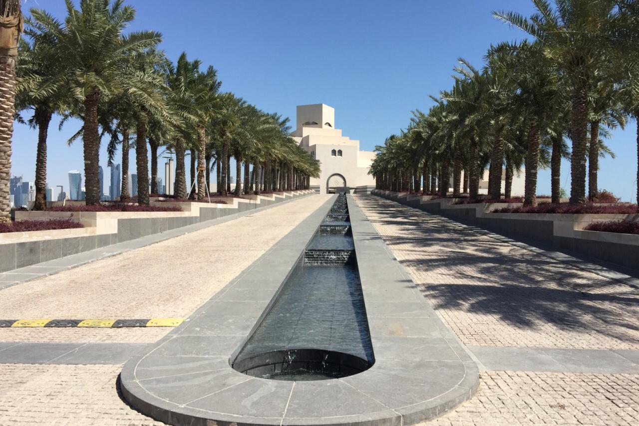 游览 卡塔尔 多哈 伊斯兰艺术博物馆 建筑大师贝聿铭最后的杰作