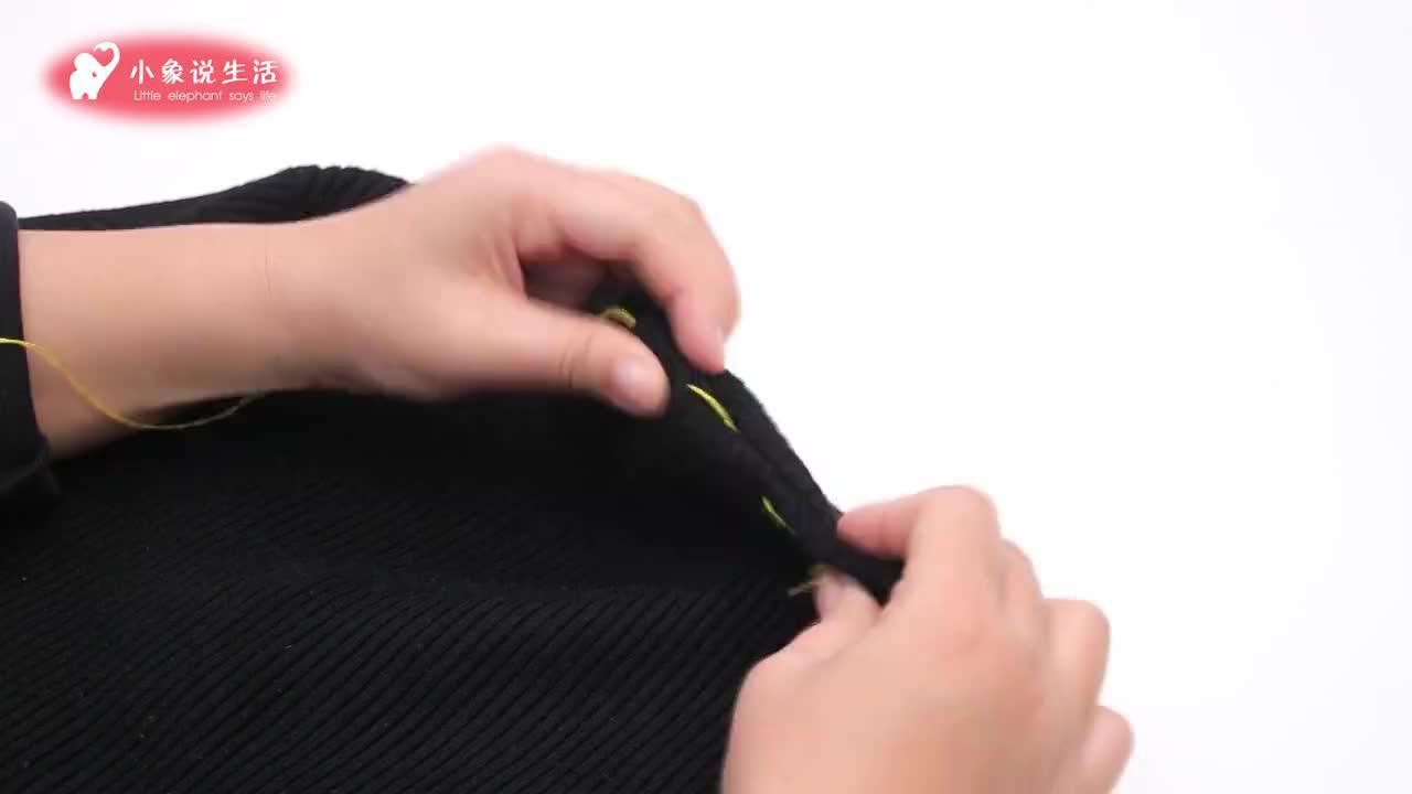 毛衣领子太大不用拆剪,老裁缝教我无痕改小领口,方法一看就会