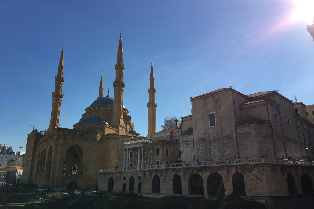 游览 西亚 黎巴嫩 贝鲁特 蓝色清真寺