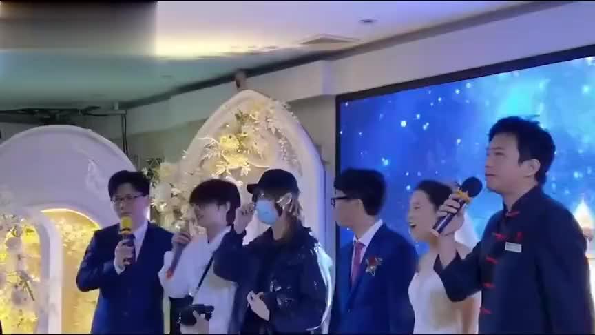 邓超鹿晗陈赫混入素人婚礼当司仪,现身后新郎新娘风头全被抢