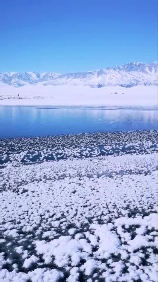 冬季唯一不结冰的地方,克勒涌珠,地下涌出的泉水清纯可饮