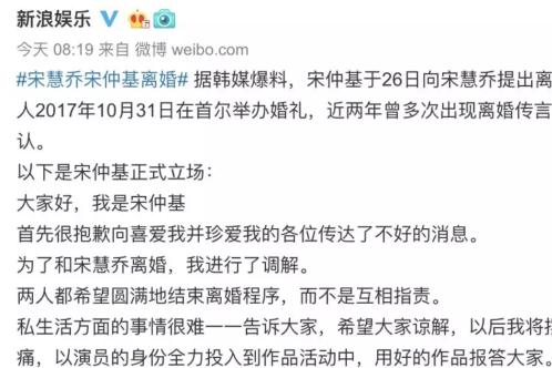 宋慧乔、具惠善被逼离婚:女人,我劝你别高估爱情
