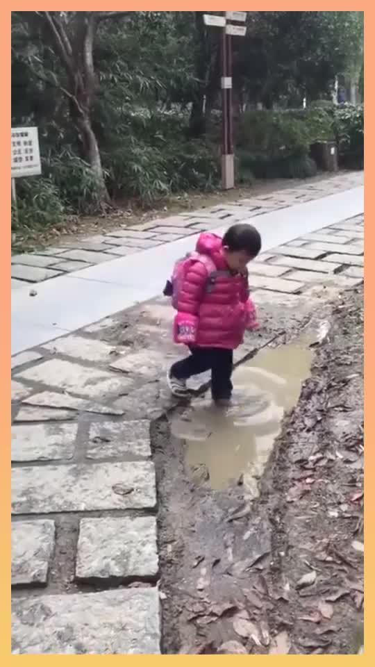 开始走得好好的,回头一看已经晚了,以后不要给孩子看小猪...