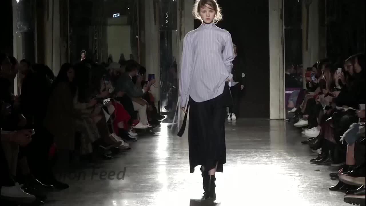 2020秋冬米兰时装周 气质超模演绎高冷风走秀 第六部分