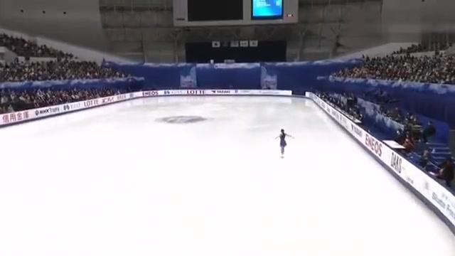 花样滑冰日本站本田真凛自由滑表演