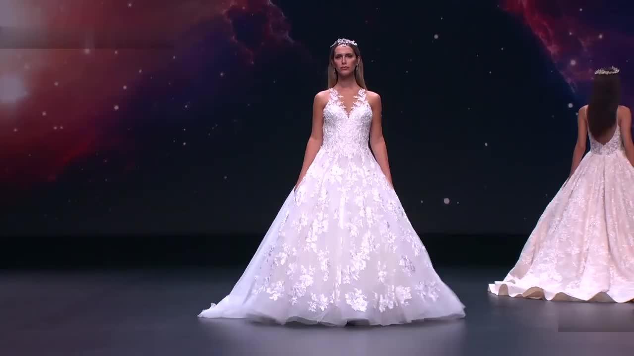 Demetrios 2020秋冬巴塞罗那新娘婚纱时装走秀(1)