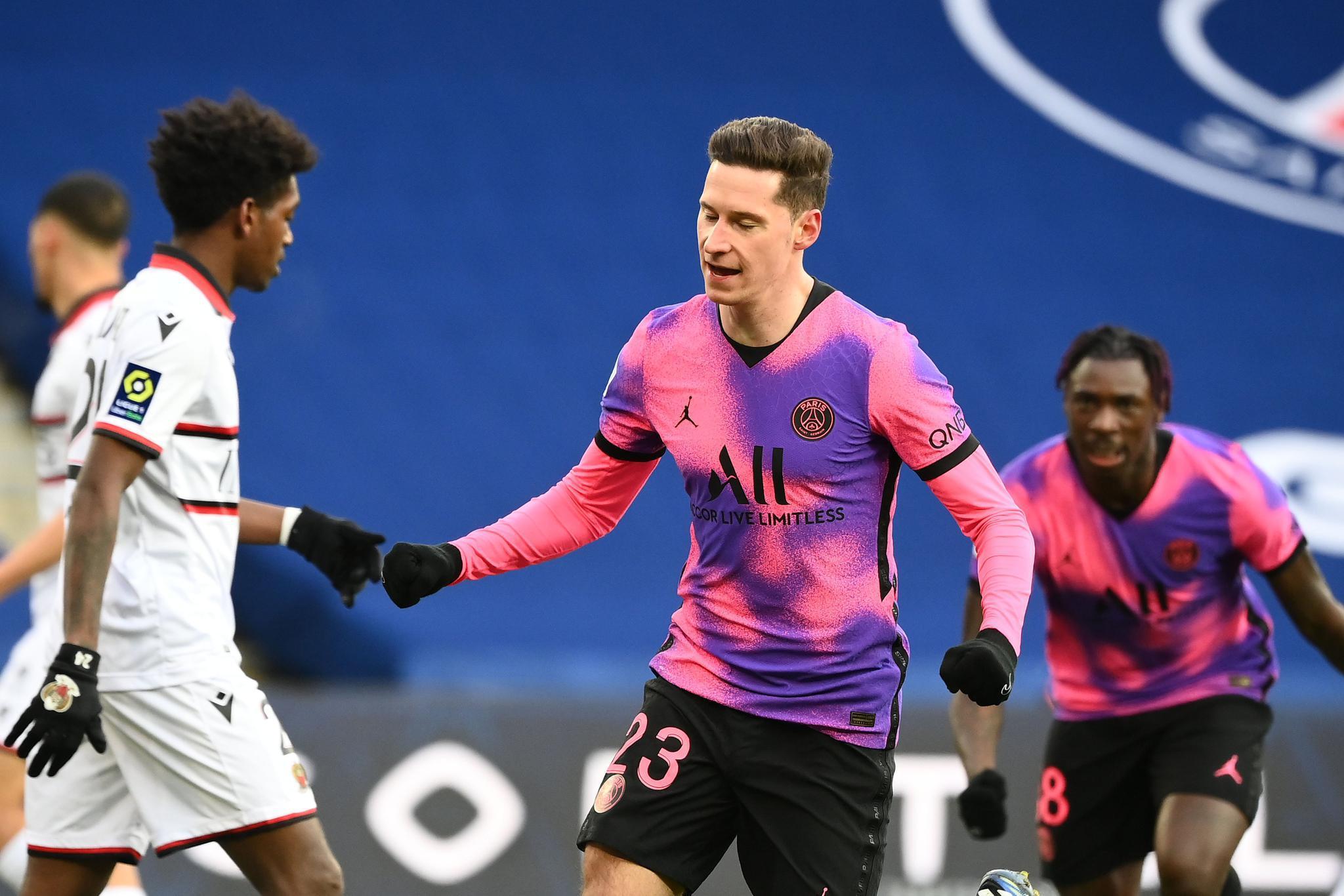 巴黎2-1胜尼斯  伊卡尔迪中柱+助攻小基恩破门