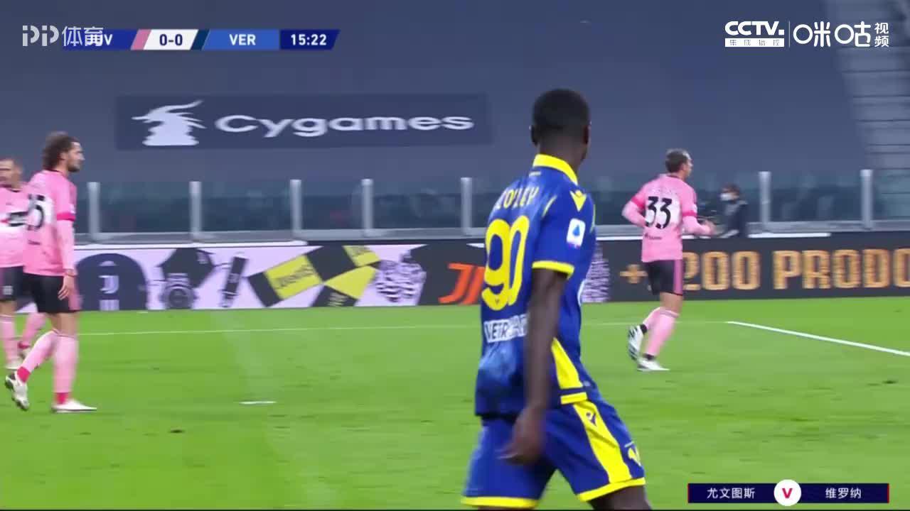 意甲-库卢替补救主博努奇伤退 尤文1-1维罗纳