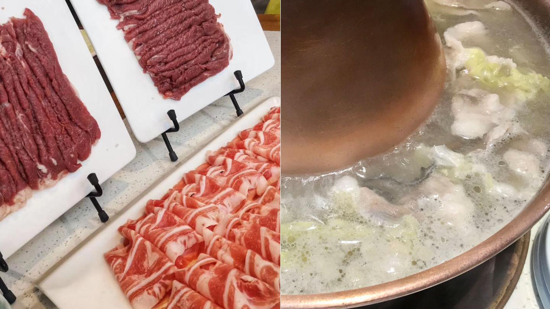 在西安吃北京铜锅涮肉:清水涮羊肉,蘸着芝麻酱吃,特香