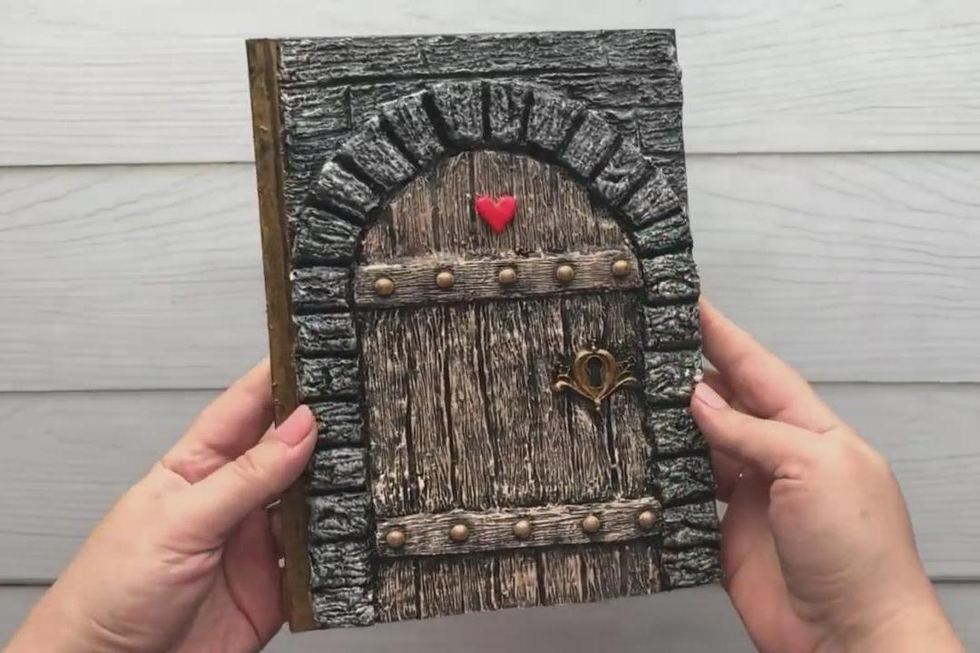 创意手工DIY,带你学习如何制作漂亮的复古笔记本!