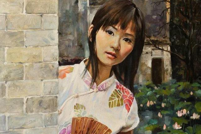 著名写实油画家刘建中人体油画中的美女