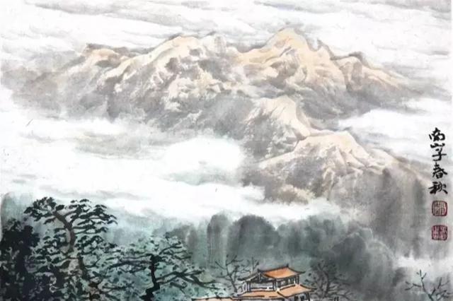 景衬心境,势表内涵,山水画中的取景和取势如何做起?