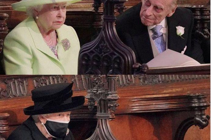 英女王寡黑着装惹泪众人,王室葬服有讲究,男士全员黑西装免尴尬