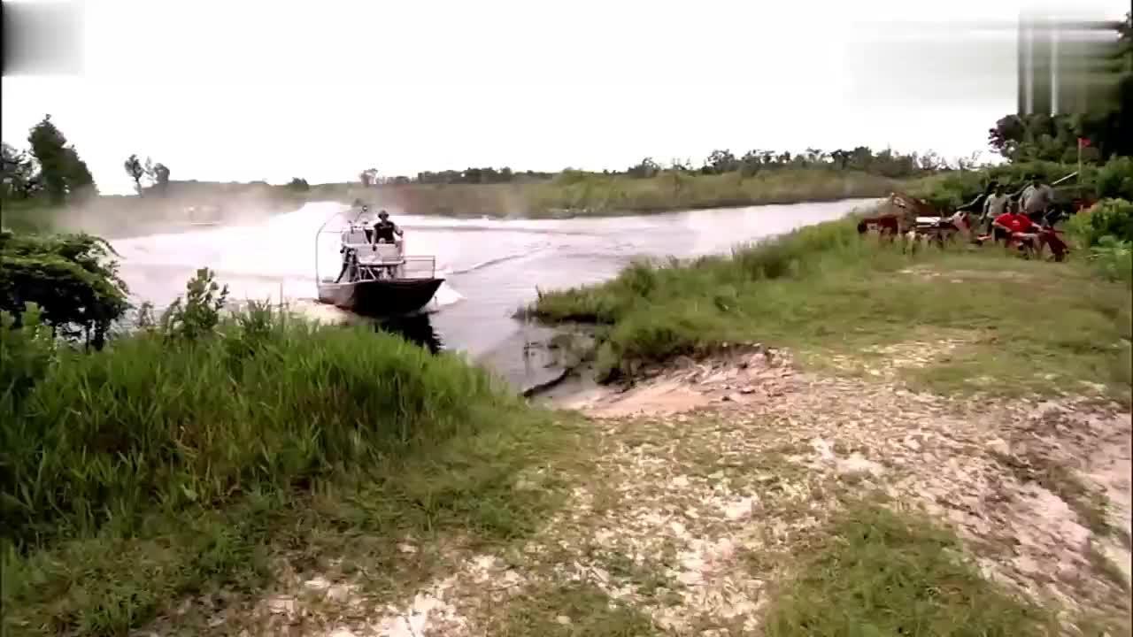 没有点智商都发明不出这款船,无轮装置,离开水陆地随意跑!