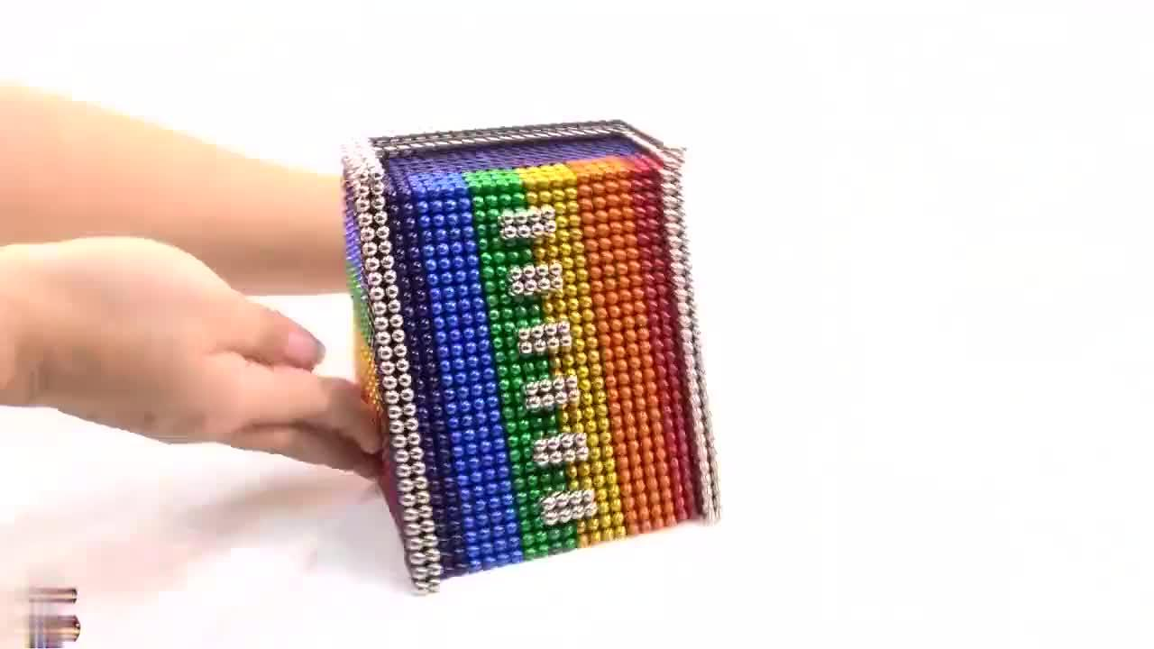 巴克球创意DIY;彩虹池,成品很逼真,发明者真是创意十足!