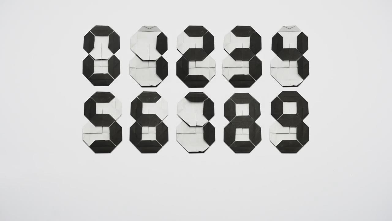 折纸教程,七段数字显示器的折叠方法!