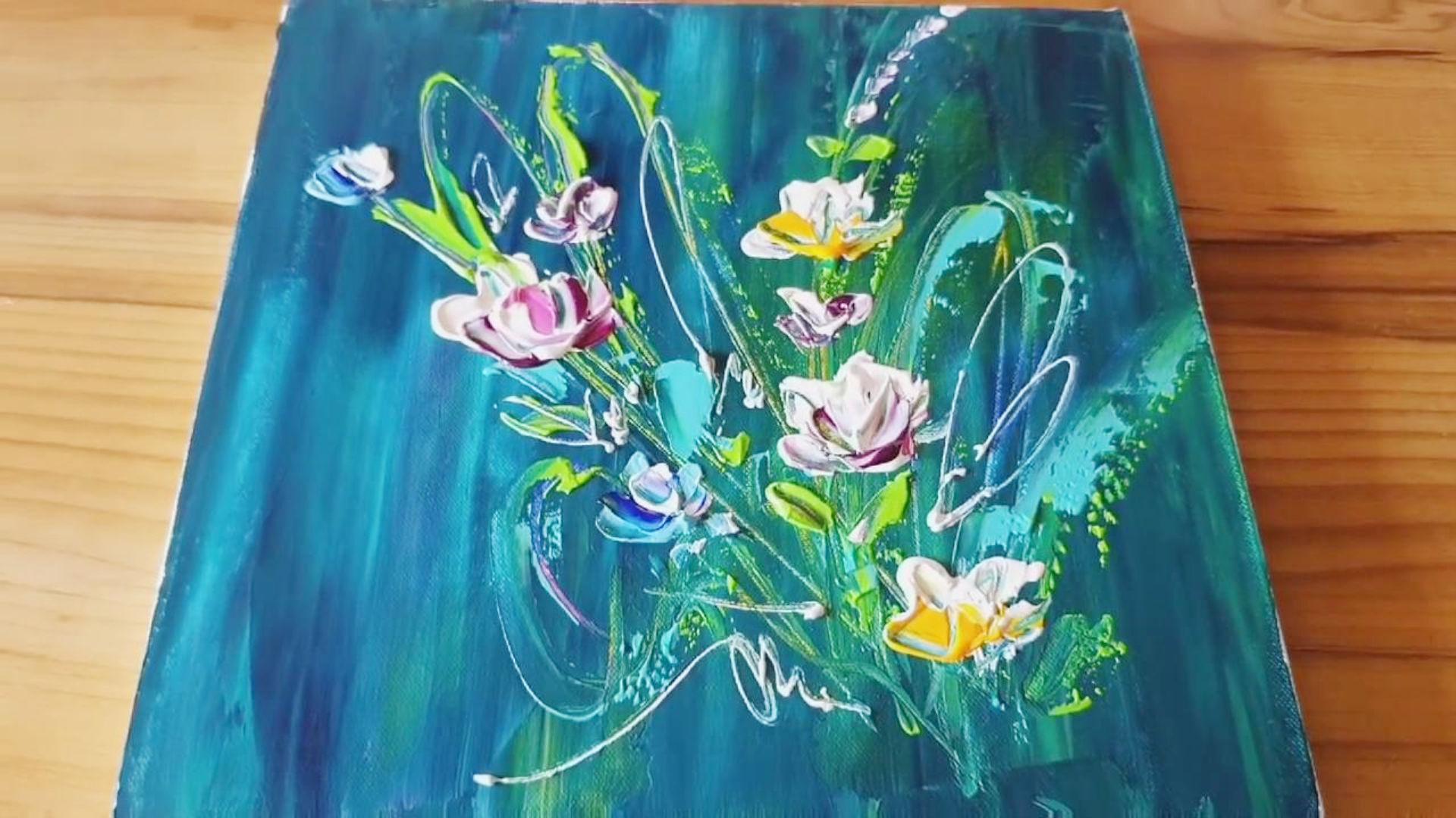 手工绘画教程,月季花的绘制方法,非常漂亮!