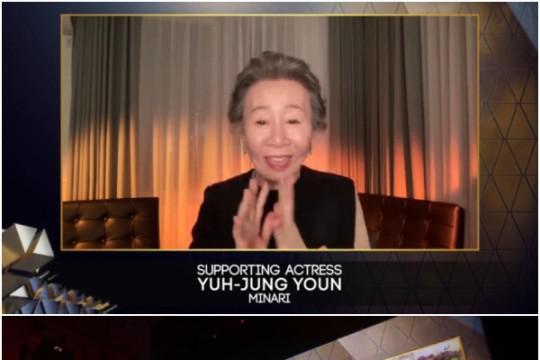 韩国女艺人尹汝贞获英国影艺学院电影奖女配角奖