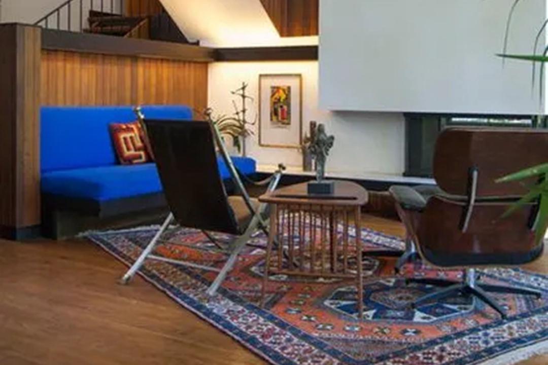 现代别墅设计,完美搭配传统手工地毯,不信你看