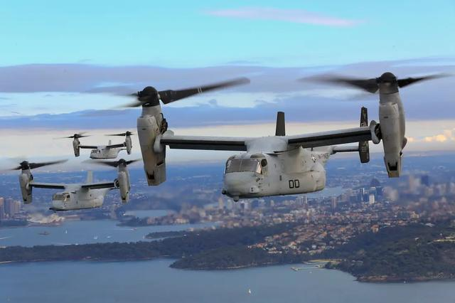 鱼鹰倾转旋翼机扭转乾坤,20年交付已有400架,国产075两攻可借鉴