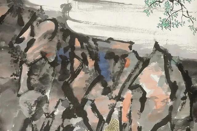 徐悲鸿一山水手卷,艺术价值独到,有身临其境之感
