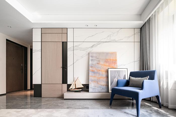 现代简约风装修,客厅隐形门设计堪称绝妙!