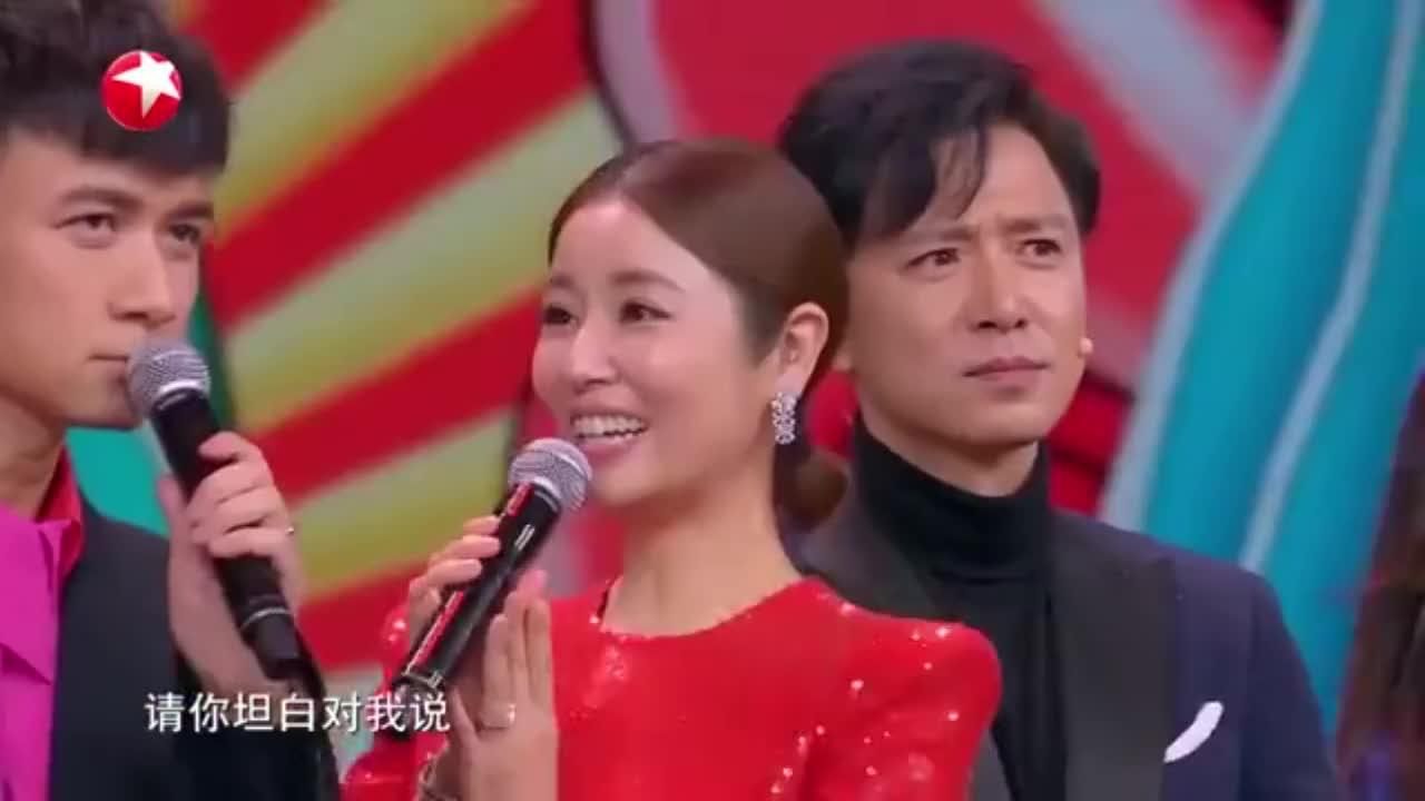 东方春晚:古巨基用粤语表白林心如,赵薇大方让爱!