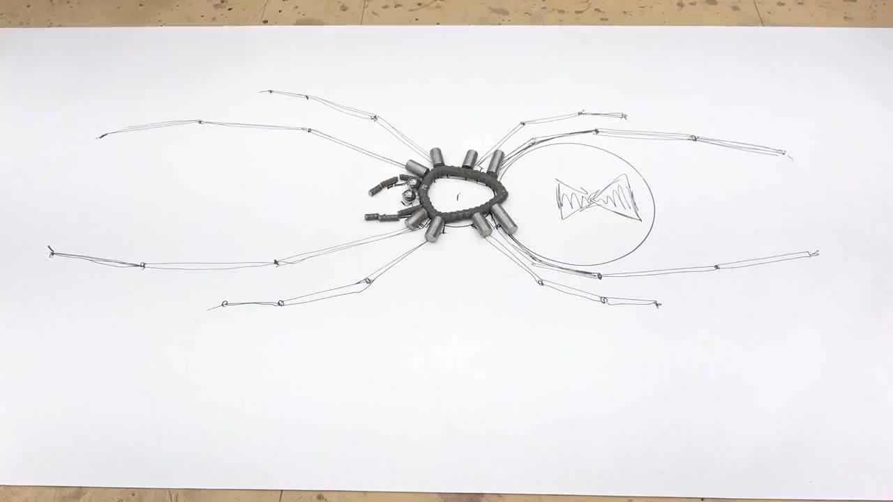 你真优秀,用螺纹钢焊接蜘蛛,这闲的很啊