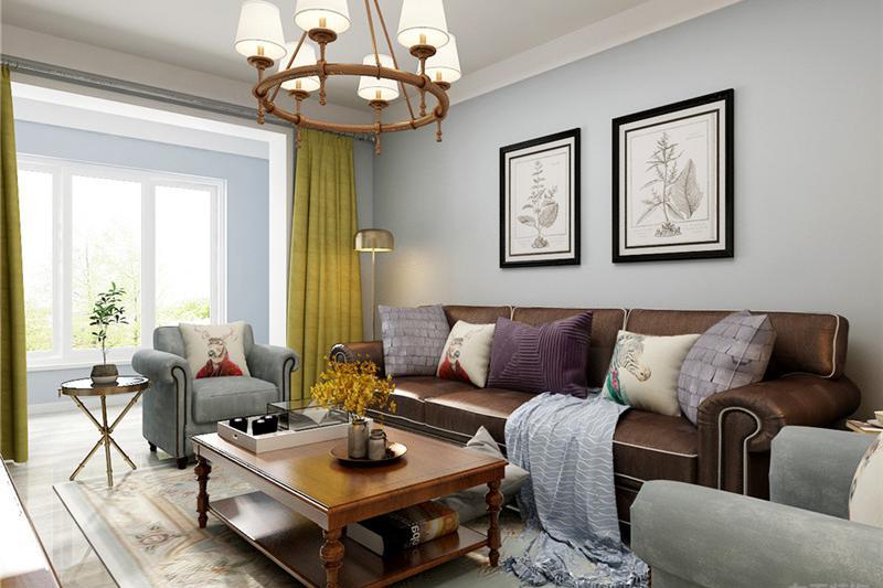 两室一厅装修样板间,北欧风格装修,76平,整体效果真舒服