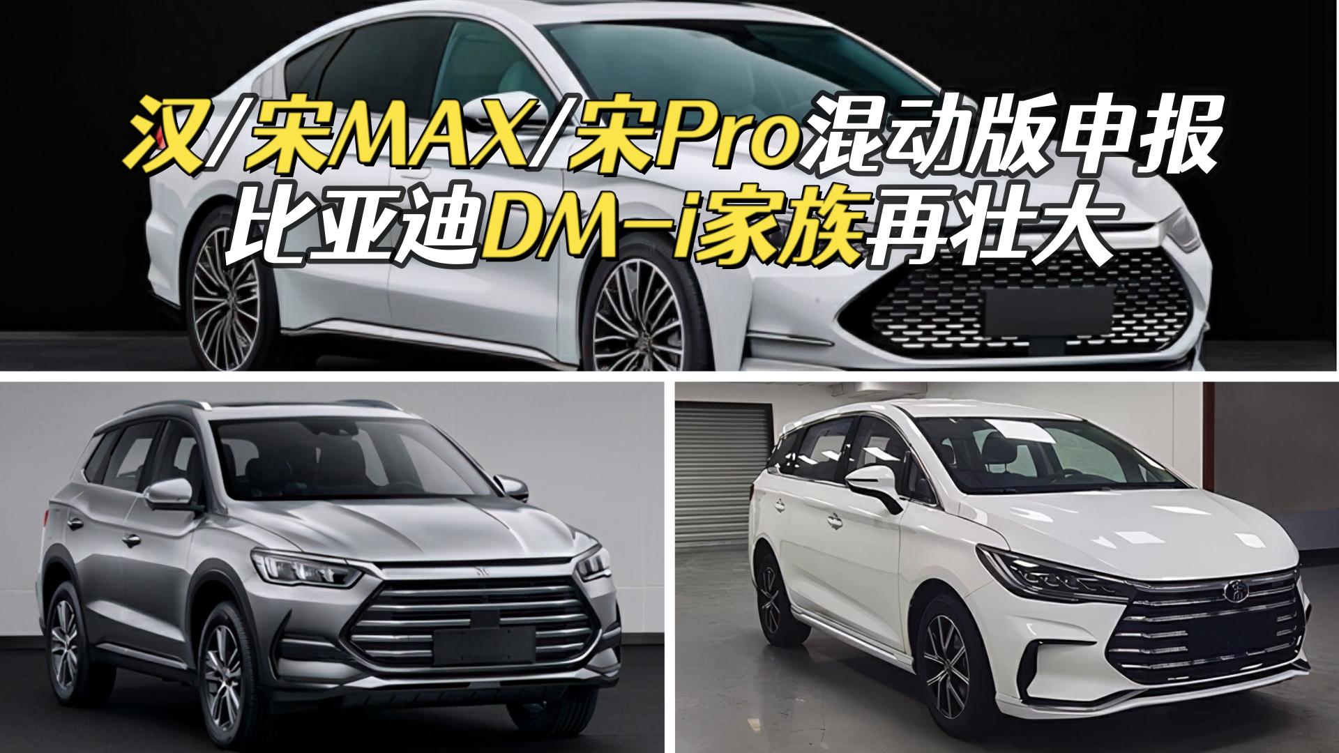 视频:汉/宋MAX/宋Pro混动版申报,比亚迪DM-i家族再壮大