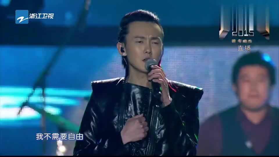 浙江跨年晚会-黄义达献上歌曲《那女孩对我说》,浪漫嗓音太好听
