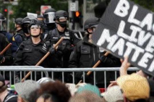 """美国黑人武装""""黑豹""""领导示威冲击富人区:在豪宅前高喊革命口号"""