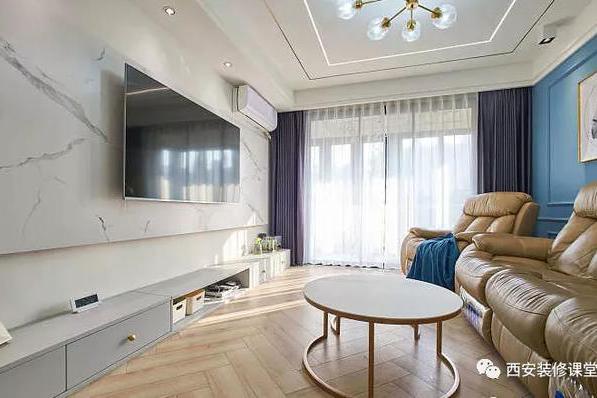 90㎡两室二手房,客卧互换,餐厨一体,独立洗衣间,轻奢小家